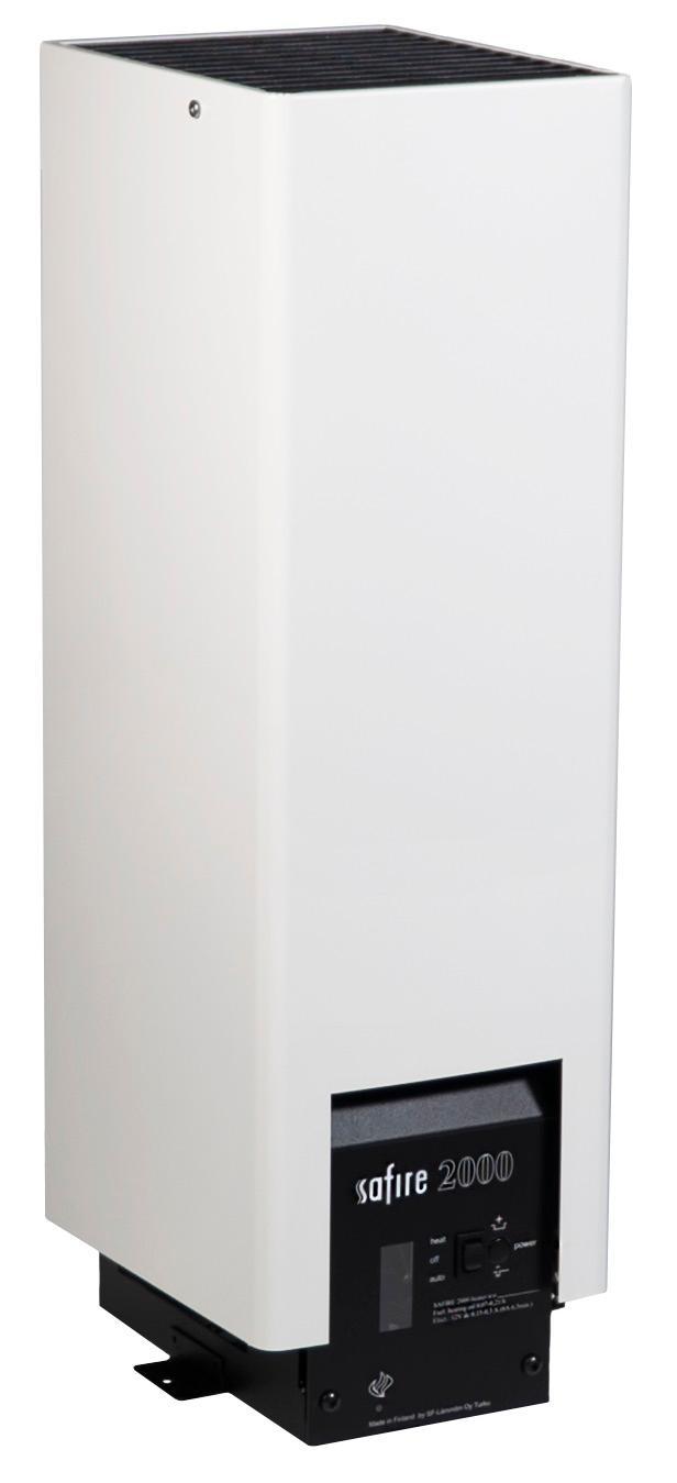 Safire 2000 hyttevarmer, hvit