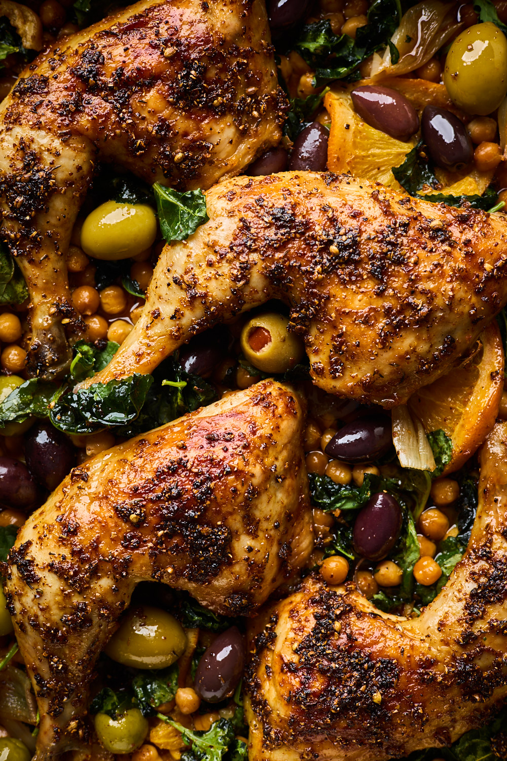 One Pan Baked Chicken With Chickpeas