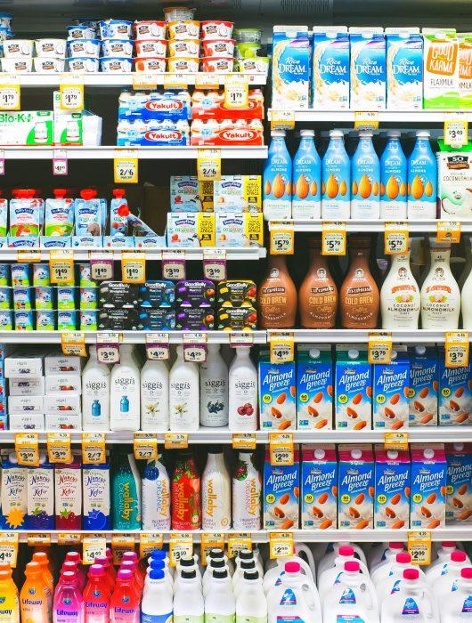 Type of Milk and Non-Dairy Milk