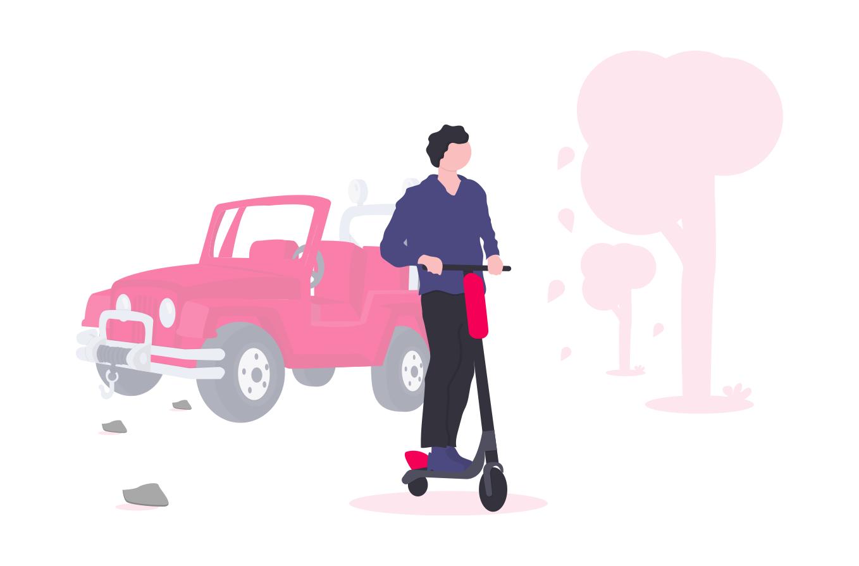 Illustration - scooter