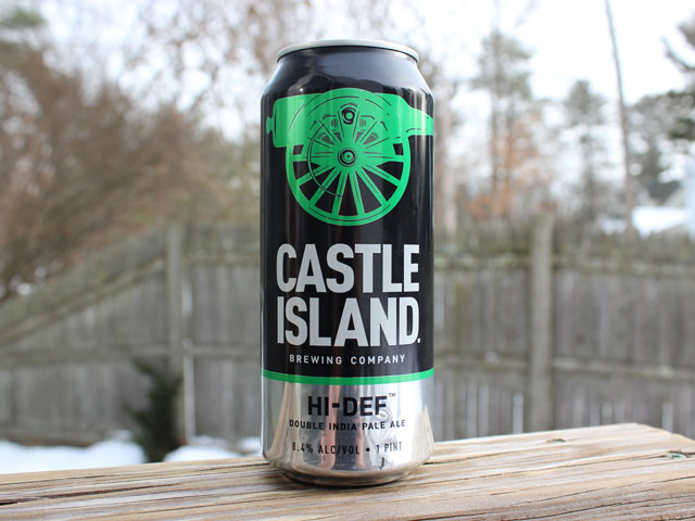 Hi-Def, a Double IPA brewed by Castle Island Brewing Company