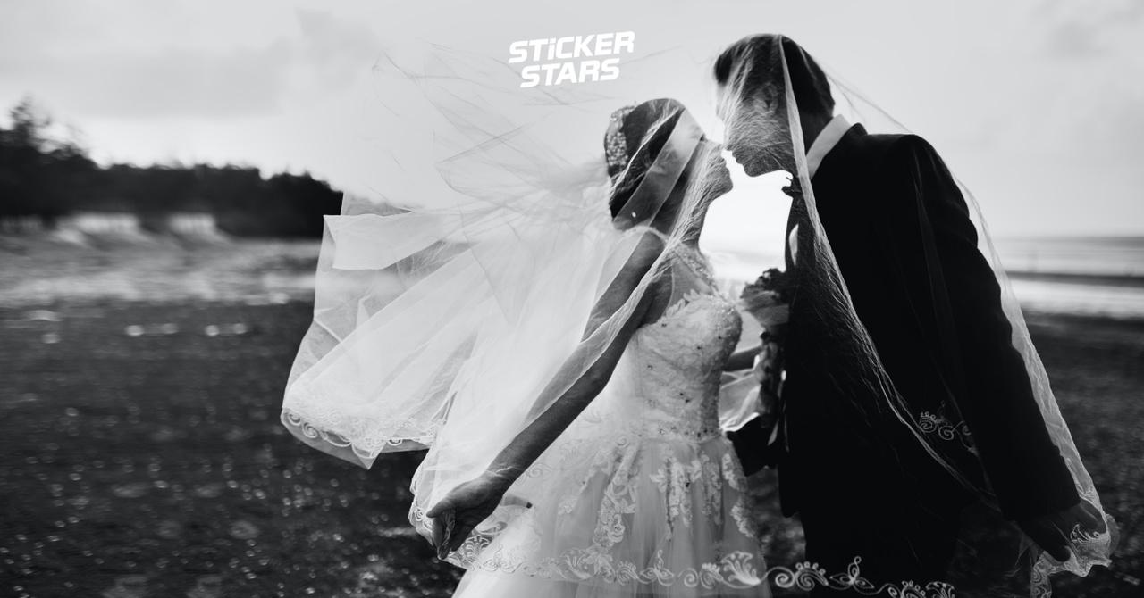 Hochzeitsfoto Ideen: Schleier im Mittelpunkt