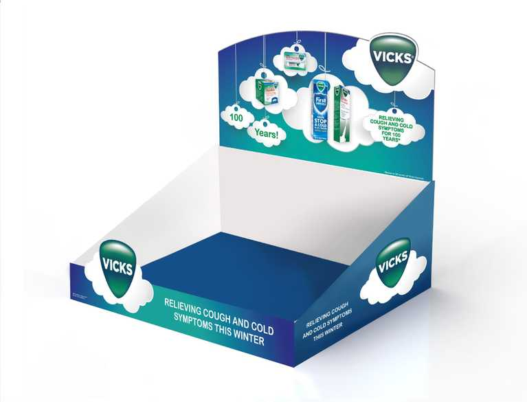 vicks display box