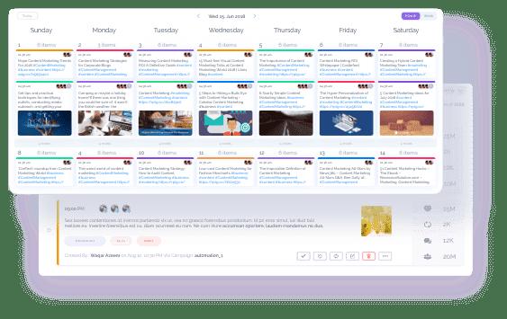 interactive content calendar