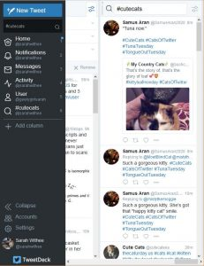 Search column added to Tweetdeck