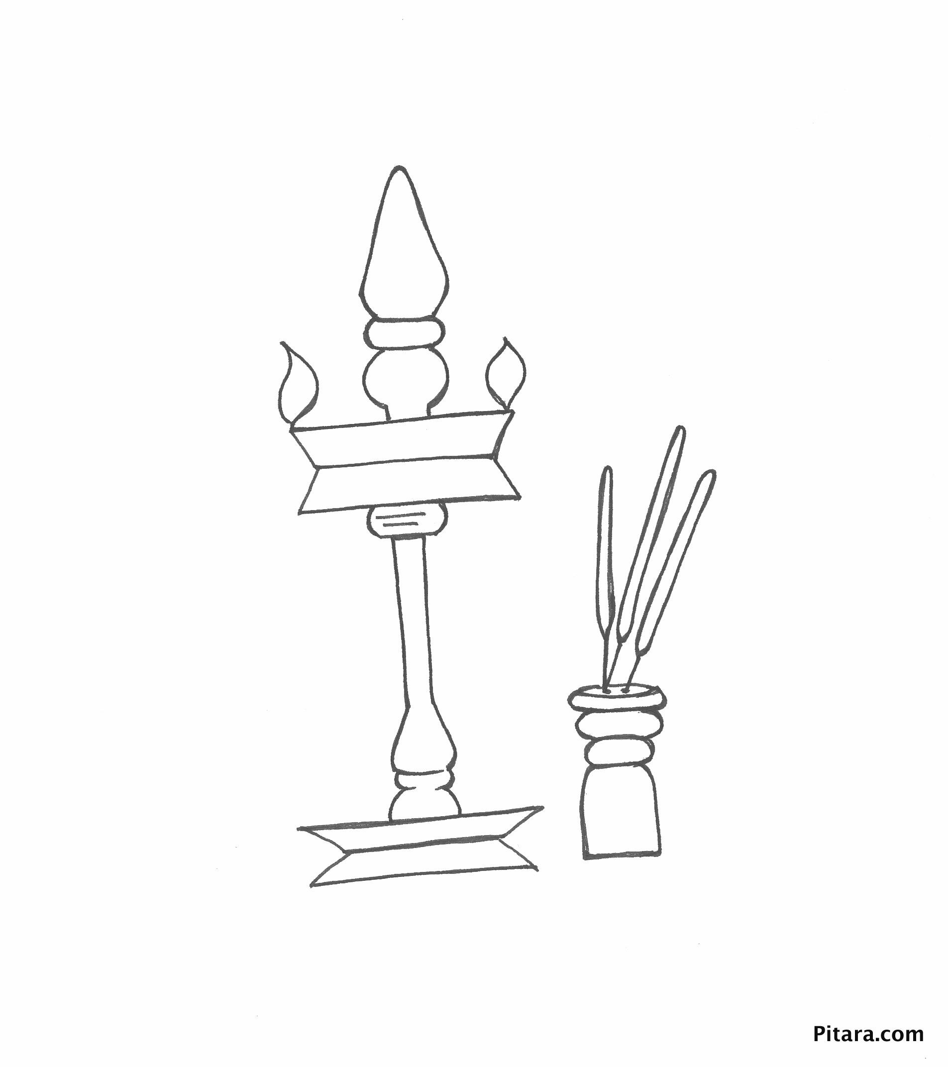 Bras lamp Diwali