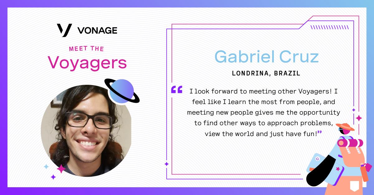 Gabriel Cruz's Voyagers Card