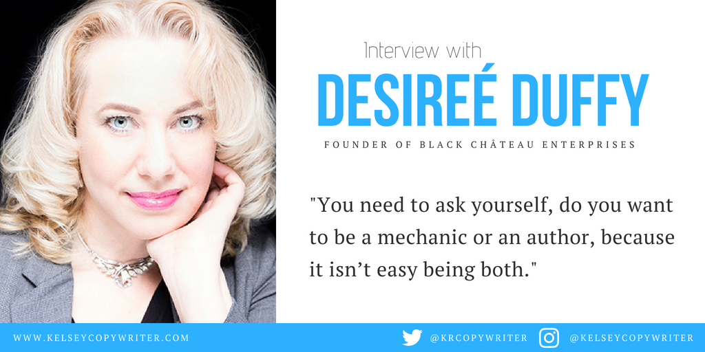 An interview about marketing for authors with the founder of Black Château Enterprises, Desireé Duffy.