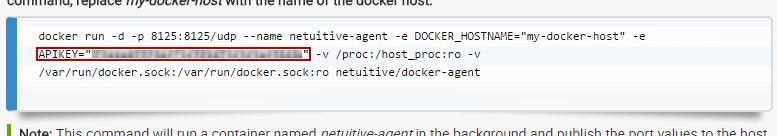 Docker API Key