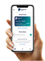 Preferred Lease app on mobile