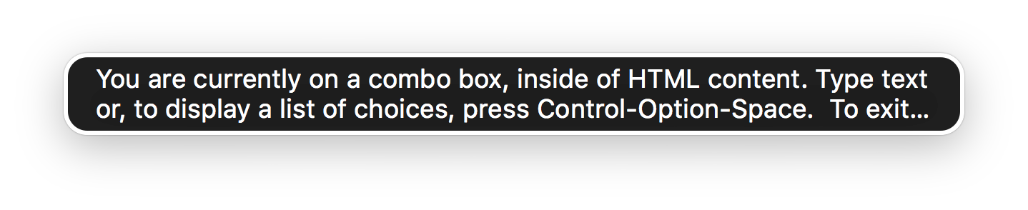 Voice Over Combobox