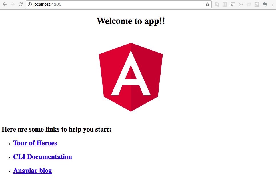 Initial Angular project template