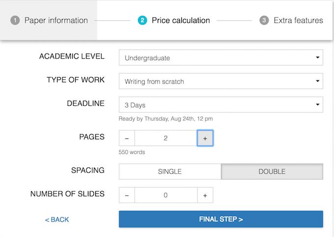 speedypaper.com price calculation