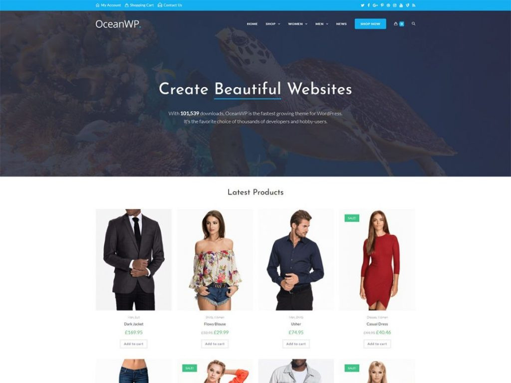 most installed free woocommerce theme oceanwp