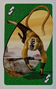Kung Fu Panda Green Uno Reverse Card