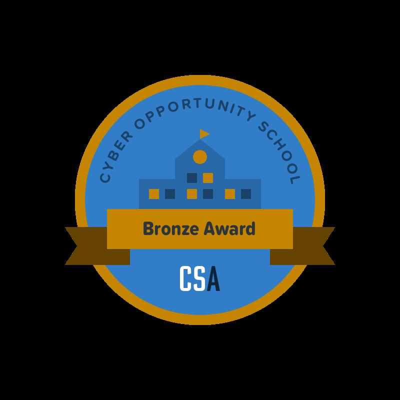 Cyber Opportunity School: Bronze Award badge illustration