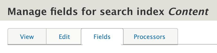 navigate to fields tab