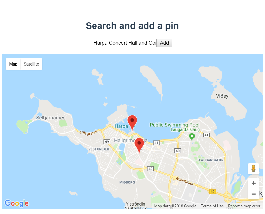 google maps autocomplete search