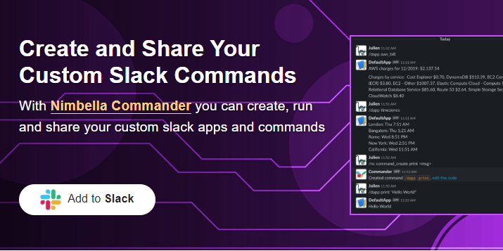 Slack button that you have to click to add Commander to your Slack account