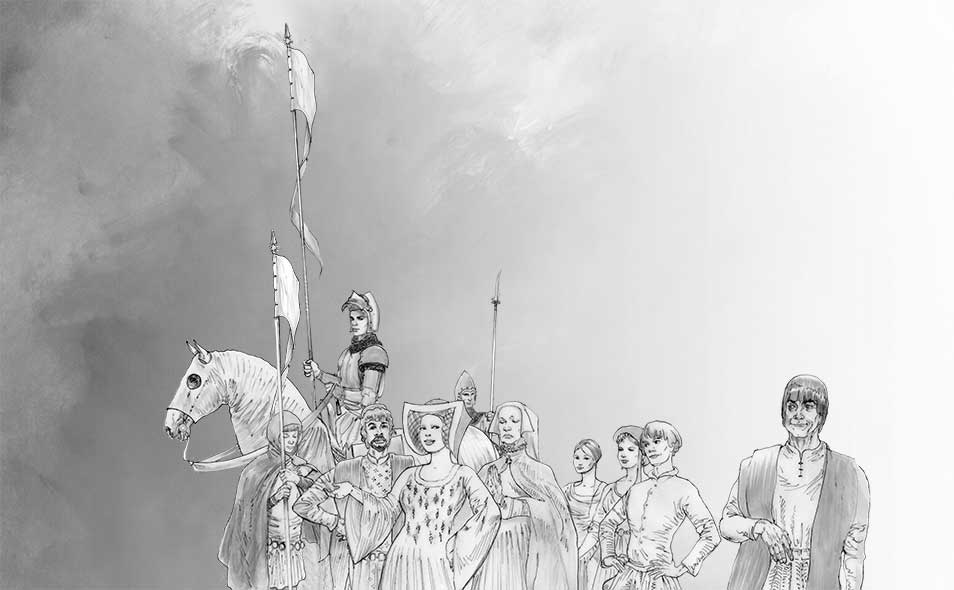 Atoleiros 1384 animatic - Nobility at royal wedding