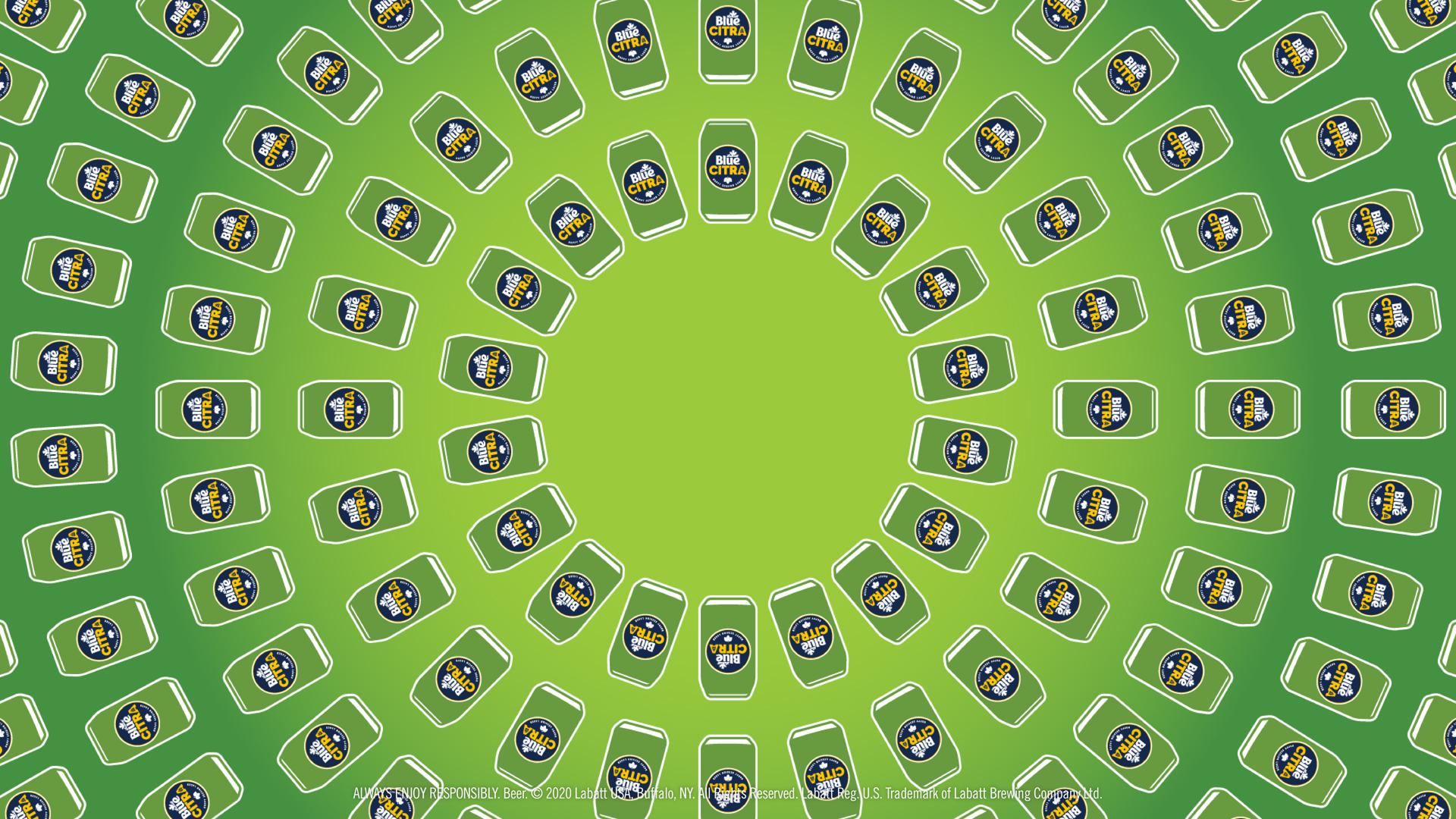 Blue Citra Can Spiral Background