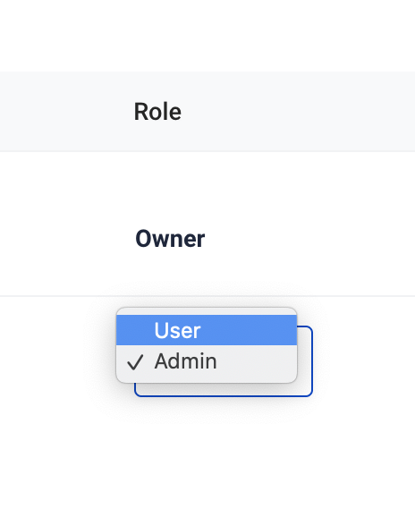 Edit roles - select a role