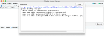Bring all changes under version control and check if everything went smoothly.