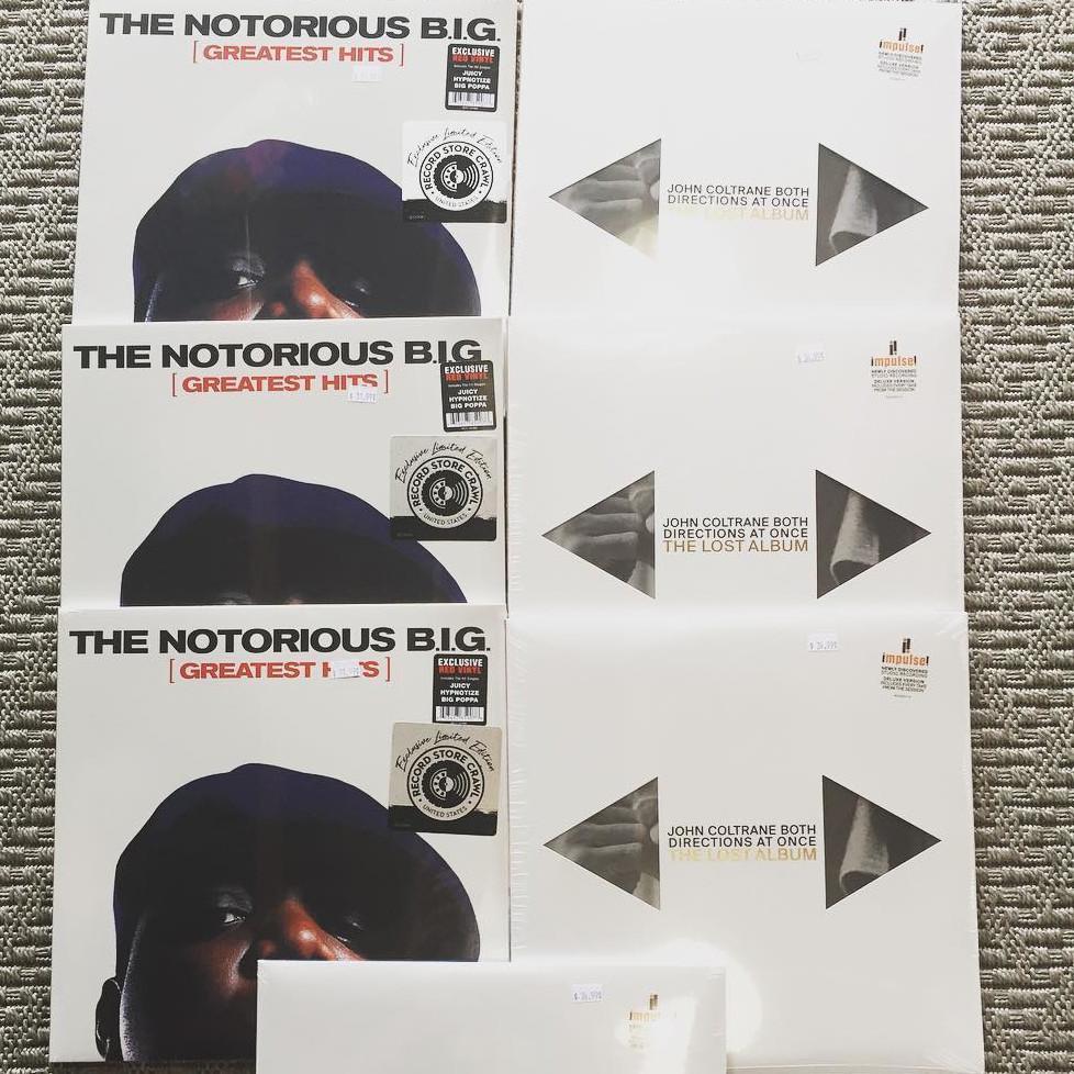 Notorious BIG Greatest Hits & Coltrane's Lost album