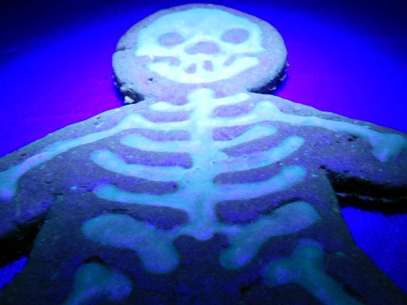 Black Light Skeleton Cookie