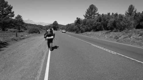 Tengo Hambre walking on Highway 74