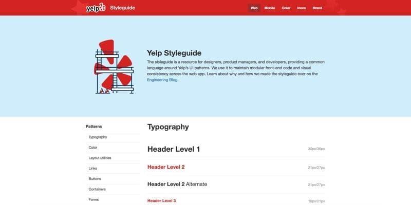Yelp Styleguide