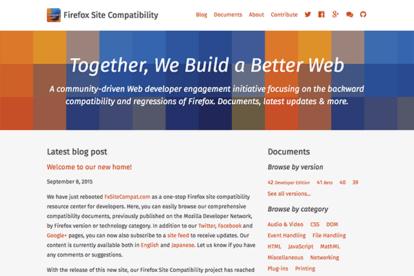Multilingual, community documentation and blog site