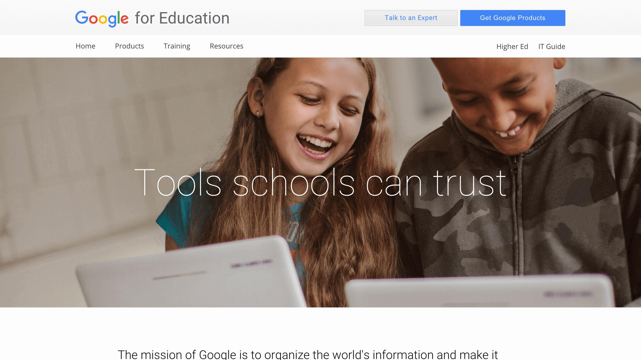Google for Edu: Trust
