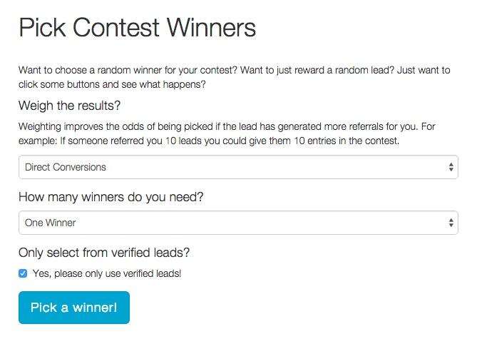 Pick a Winner