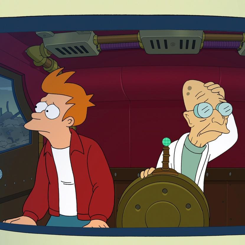 Кадр измультфильма «Futurama»