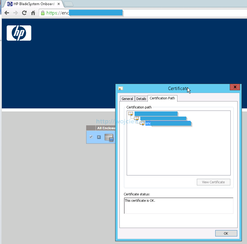 Installing signed SSL certificates in HP c7000 enclosure - 10