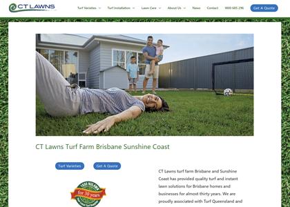 CT Lawns Website Screenshot