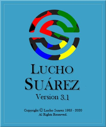 S logo and Lucho Suarez with copyright info