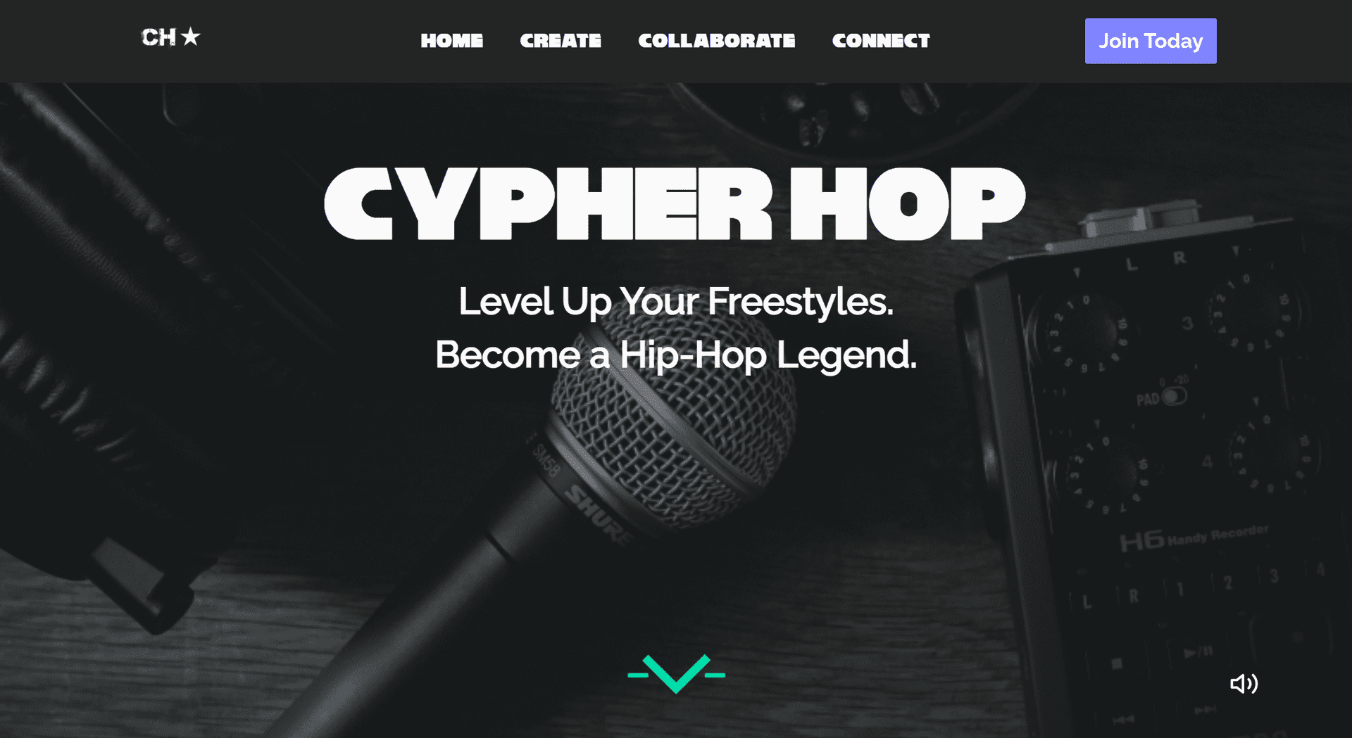 Cypher Hop Application Homepage