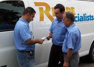technicians and van