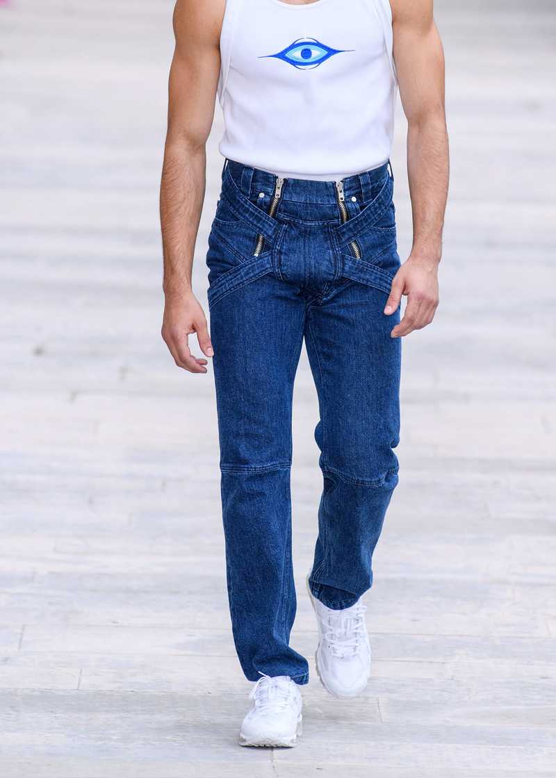 Eren SS20 Jeans with Harness Blue Indigo