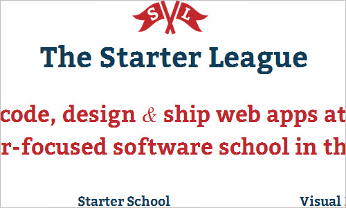 The Starter League (formerly Code Academy)