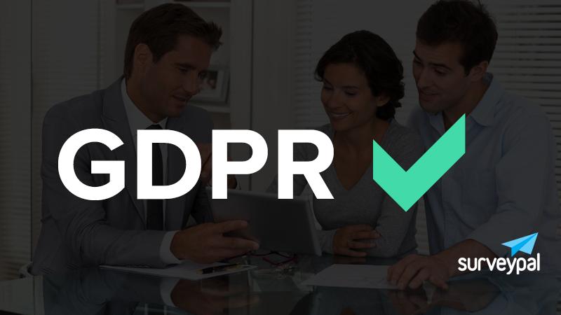 Surveypal täyttää GDPR:n asettamat vaatimukset