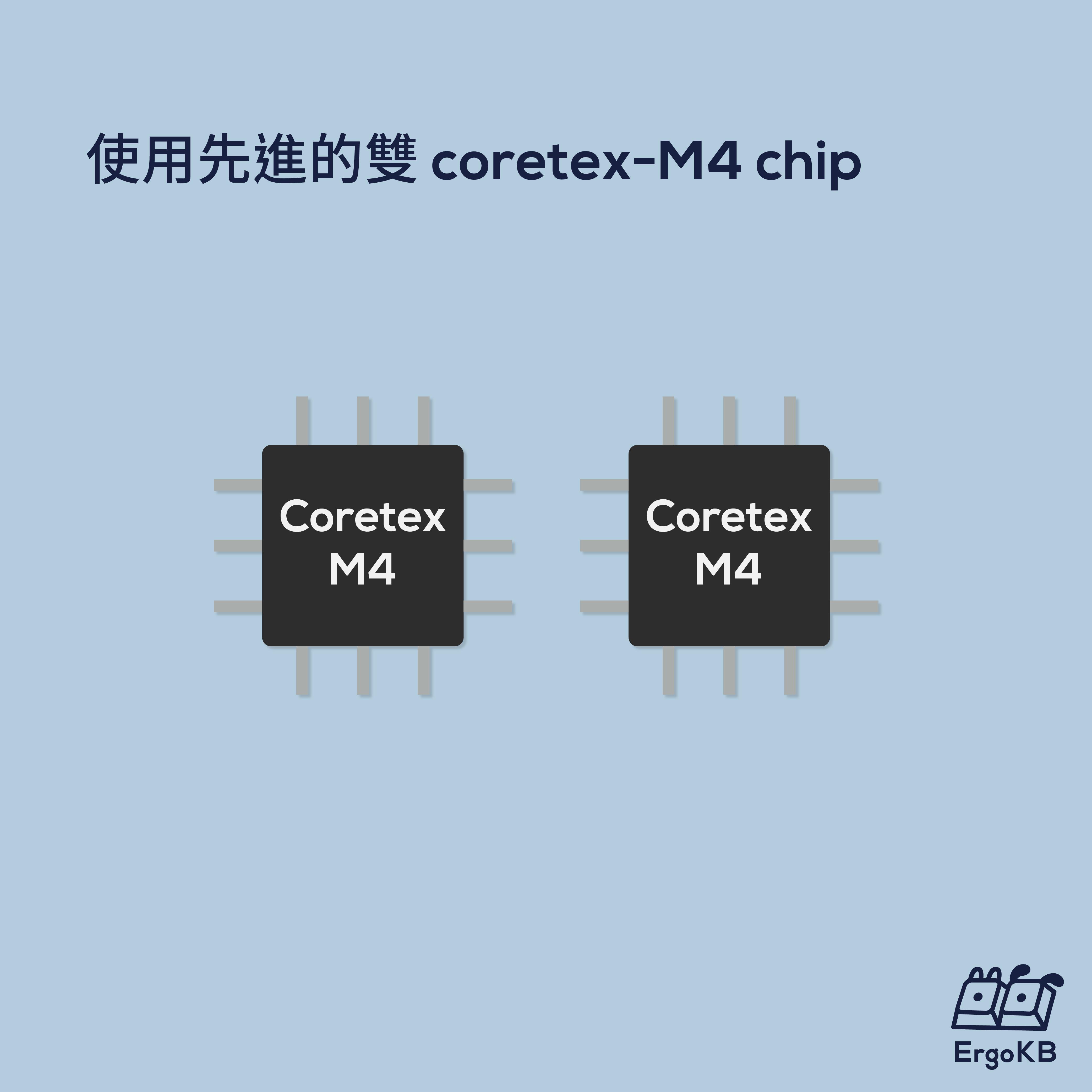 使用先進的雙 Cortex-M4 chip