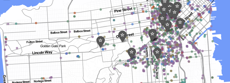 Mapping San Francisco's open data with leaflet // Nathanael Aff