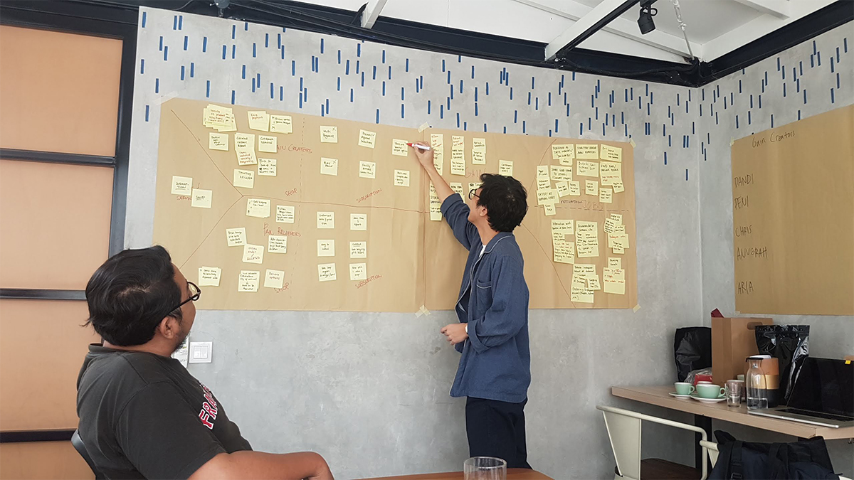 feature image of 'Running a Value Proposition Canvas at Gordi.id' case study