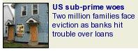 US Sub-Prime Reposessions