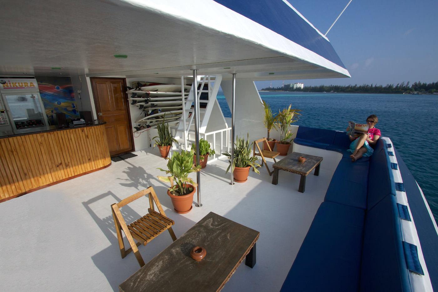 Blue Star Open Boat Surf Charter Maldives Dining