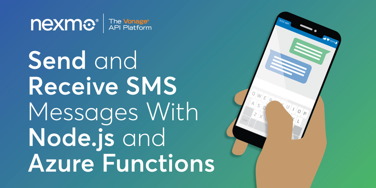 How to Send and Receive SMS Messages With Node.js and Azure Functions