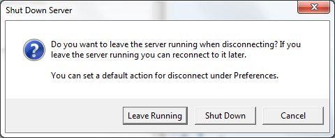 COMSOL Server Disconnect/Shut-Down